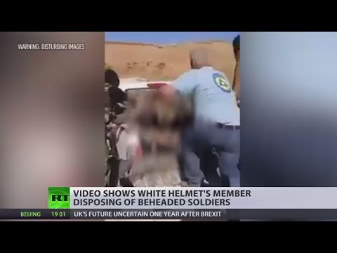 YouTube -White Helmet member allegedly caught on camera disposing of beheaded soldiers (GRAPHIC)