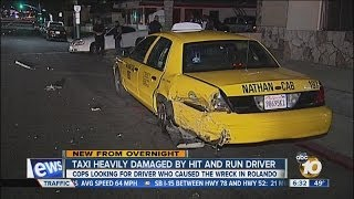 Hit-and-run driver slams into taxi cab in Rolando area of San Diego
