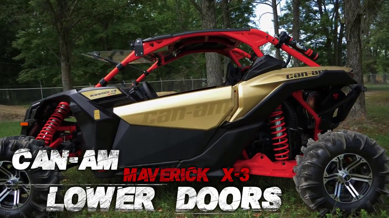 Can-Am Maverick X3 Lower Door Inserts - SuperATV & Can-Am Maverick X3 Lower Door Inserts - SuperATV - YouTube