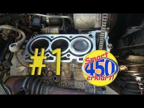 Smart Fortwo 450 Motorreparatur Teil 1 Motor Reparatur Revision Motorüberholen zerlegen demontieren
