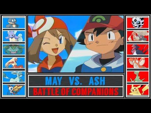 Ash vs. May (Pokémon Ultra Sun/Moon) - Battle of Companions