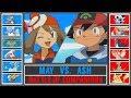 Ash vs. May (Pokémon Sun/Moon) - Battle of Companions