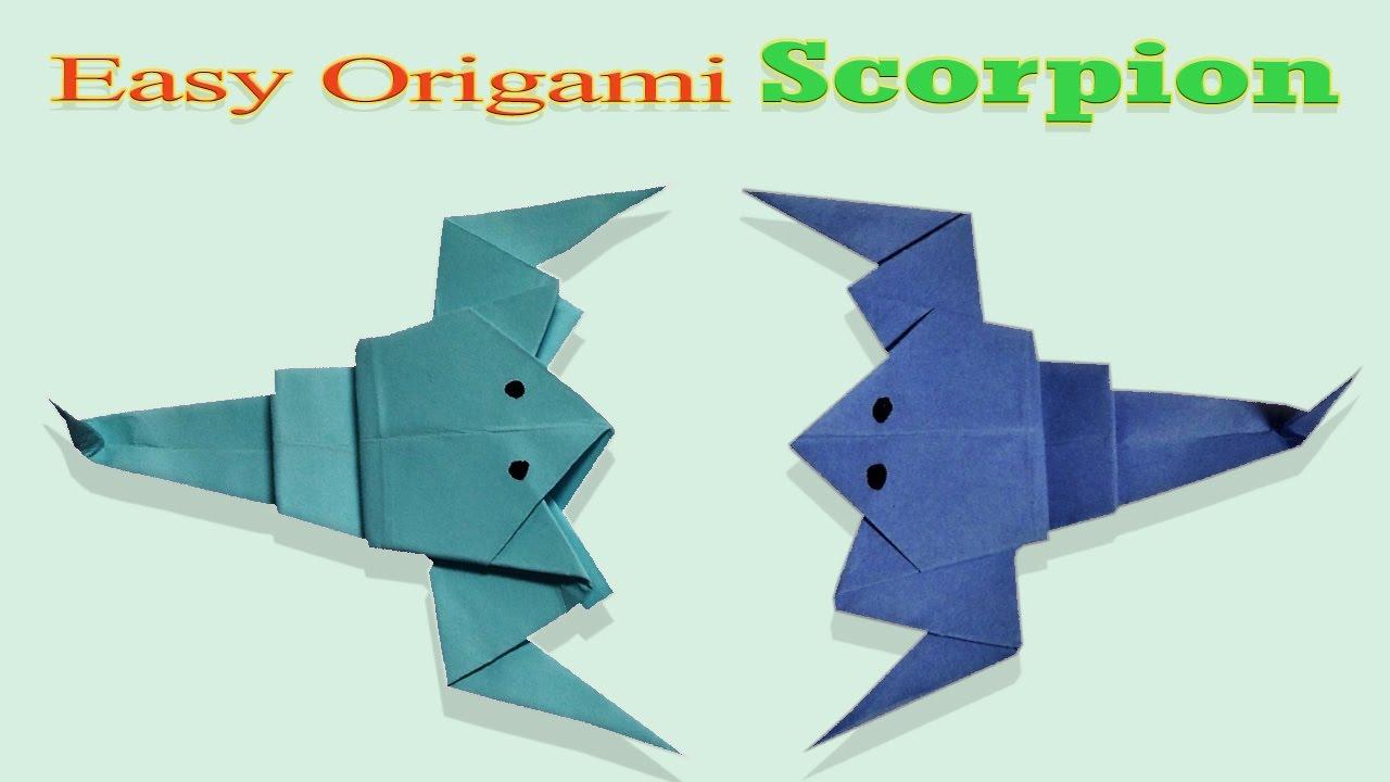 Origami Tutorials Scorpion How Make Folding Paper Craft