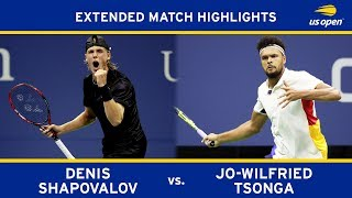 Denis Shapovalov vs. Jo-Wilfried Tsonga | 2017 US Open, R2