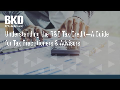 Understanding the R&D Tax Credit – A Guide for Tax Practitioners & Advisors