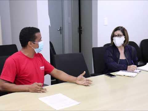 Fotos da reunião com Thomas Nonô sobre fechamento da UBS Tereza Barbosa e PAM Salgadinho