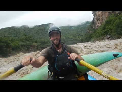 Justin Rae Rafting the final rapid above Puente Malletta- a little raw unedited action