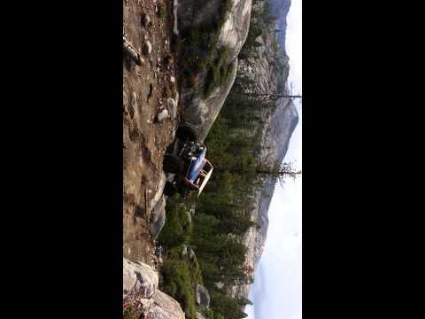 Tom Hampton walking last rock at winch hill 1