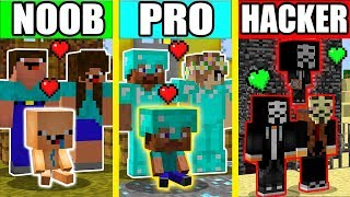 Minecraft - NOOB vs PRO vs HACKER : LOVE FAMILY BATTLE in Minecraft Animation