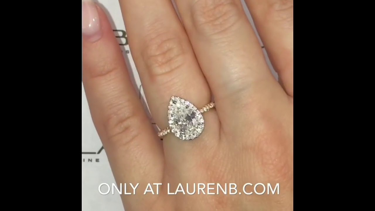 3fc855474 1.30 Ct Pear Shape Diamond Two-Tone Ring - YouTube