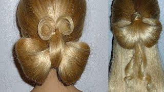 Причёска бант из волос. Причёски для средних, длинных волос