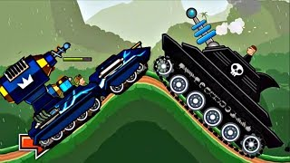 Hills Of Steel Update -  TESLA Tank vs LASERJAW Boss Level | Game For Kids FHD
