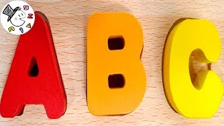 ABC song for Children Wooden alphabet puzzle Alphabet wooden letters for Kids