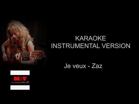 Je veux - Zaz karaoke