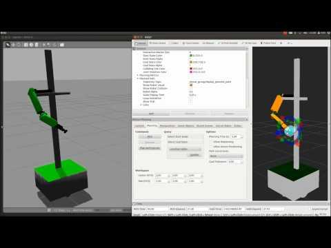 Modelo CeRVaNTeS en rviz - moveIt! (Motion Planning simulated)