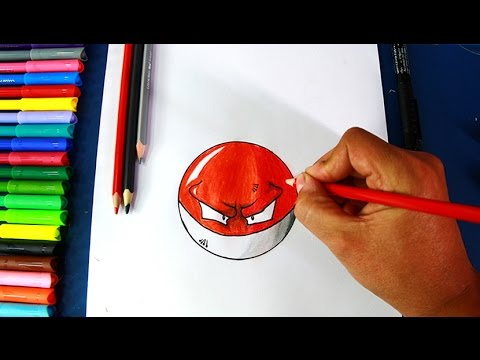 How To Draw Voltorb Pokemon Go Como Dibujar Pokebola Voltorb