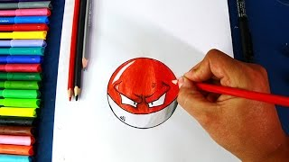 How to draw VOLTORB (Pokemon GO) | Cómo dibujar Pokebola Voltorb (Pókemon GO)