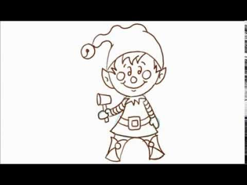 how to draw santas christmas elf - How To Draw A Christmas Elf