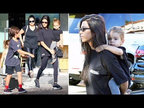 STRONG MOMMA! Kourtney Kardashian Gives Son Reign Disick A Piggyback Ride