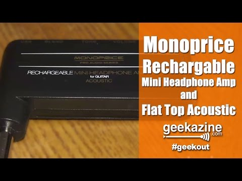 Monoprice Acoustic Mini Headphone Amplifier, Foothill Flat Top Guitar