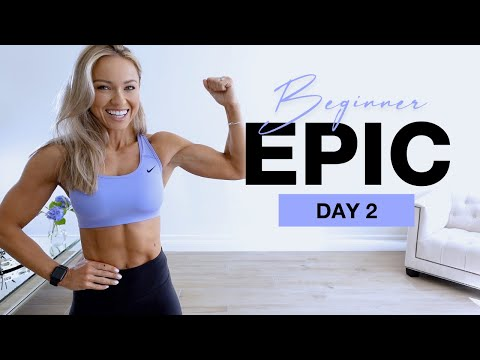 DAY 2 of Beginner EPIC   No Equipment Upper Body Workout