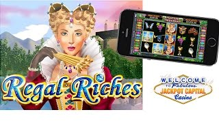 Jackpot Capital New Mobile Regal Riches Slot Game(Jackpot Capital Casino's new mobile slot game, Regal Riches, takes mobile casino players back to the Renaissance with a luxurious game that's generous with ..., 2014-10-20T11:52:25.000Z)