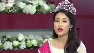 """Hoa hậu Mỹ Linh hát """"Chiều nay không có mưa bay"""" tặng khán giả"""