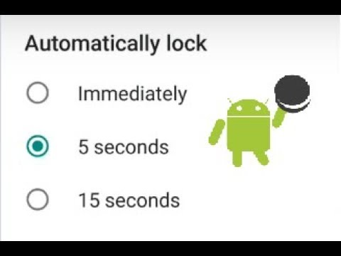 How To Change Screen Sleep And Screen Lock Timeout On Android Oreo 8.0 Phones