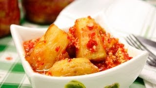 Острая закуска из баклажанов видео рецепт