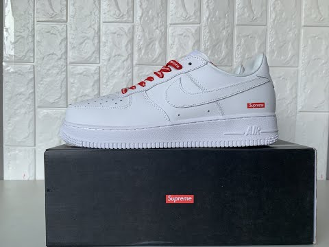Air force supreme white high quality from yupoo dhgate - YouTube