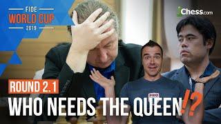 Nisipeanu Stuns Nakamura?!: FIDE World Cup Round 2.1