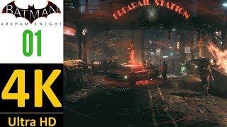 [4K]:Batman Arkham Knight Walkthrough Part 1(Hard/No Damage/No Upgrades)-Oracle(No Commentary)