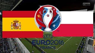 SPANIEN gegen POLEN - EM 2016 FRANKREICH (Gruppenphase 2.Spieltag) ◄ESP #05►