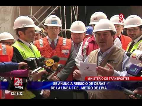 Anuncian reinicio de obras de Línea 2 del Metro de Lima