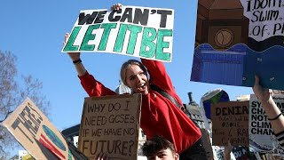 Hotting up: thousands of UK students join wave of climate protests