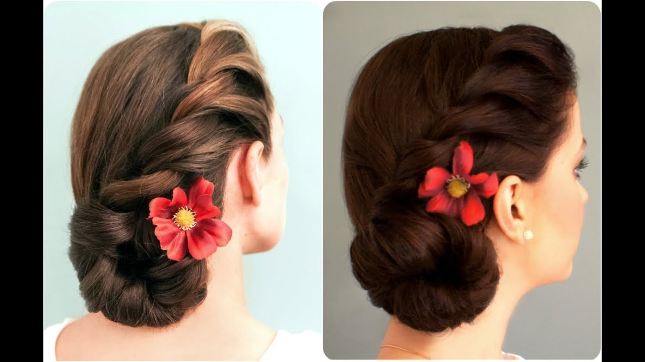 Rope Braided Side Bun Youtube