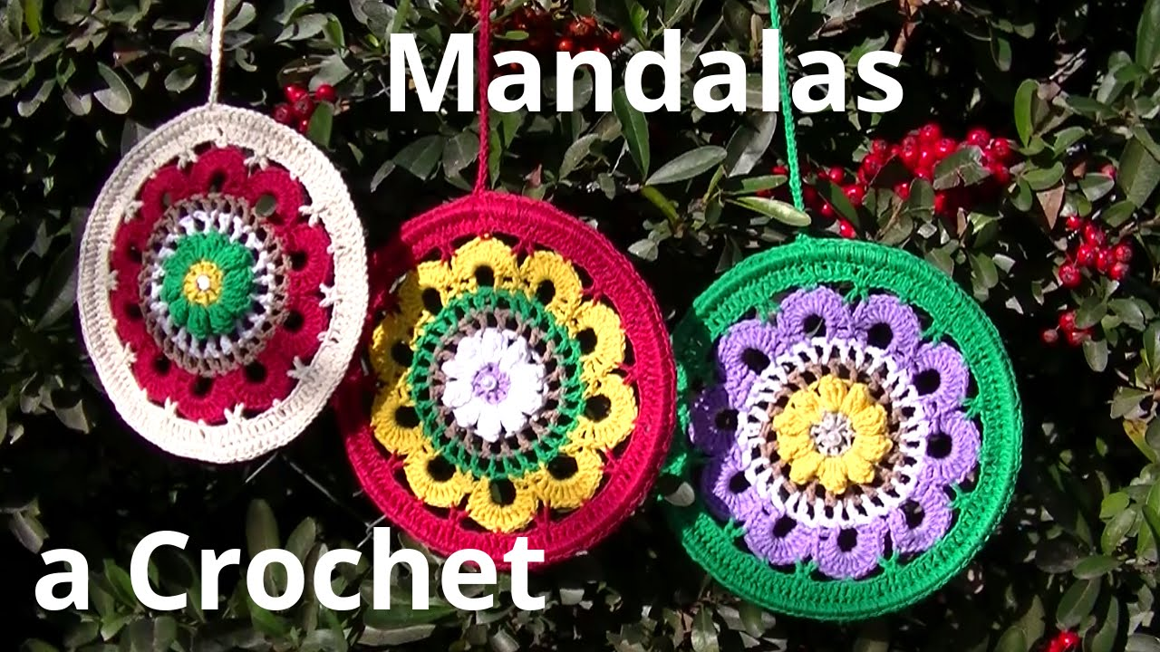 Como tejer un #mandala en tejido crochet o ganchillo tutorial paso a ...