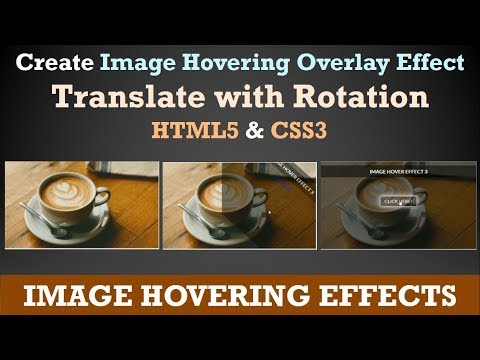 CSS Image Hover Effects - Pure CSS Tutorial - How To Create Image Hover Overlay Effects - Rotation