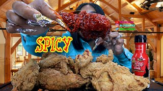 2X Spicy Popeyes Chicken Crispy Deliciousness Mukbang | by Bloveslife