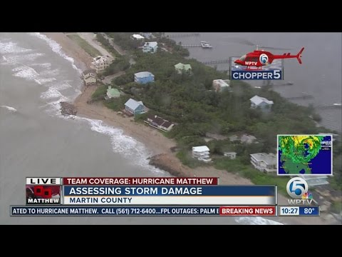 Chopper 5 aerials from Jupiter Inlet to Jensen Beach