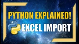 Python: How to Import Microsoft Excel Files!
