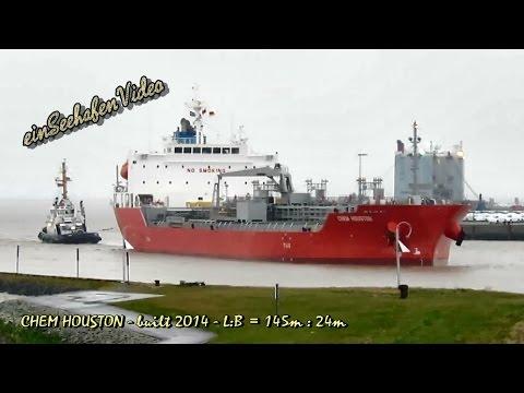 chem tanker CHEM HOUSTON D5FT8 IMO 9705720 inbound Emden with tugs cargo seaship Seeschiff