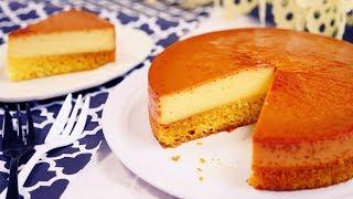 Easy One Pan Pudding Sponge Cake 簡単 ワンパン プリンケーキ