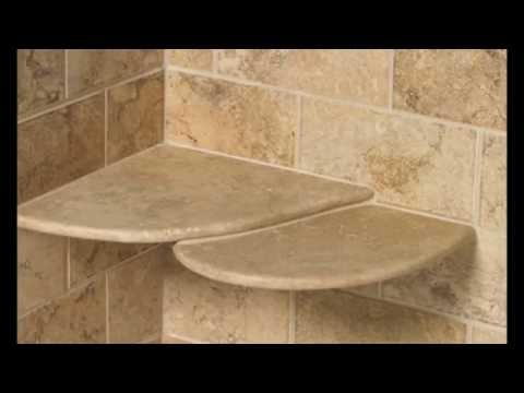 shower shelf insert ideas for built in tile with stainless steel glass