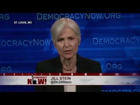 Part 2:  Jill Stein Spars with Clinton  and Trump in Expanding the Debate!   Special!