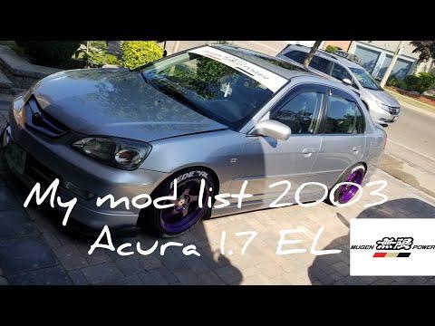 My Mod list for 2003 acura 1.7 el (mugen_el)