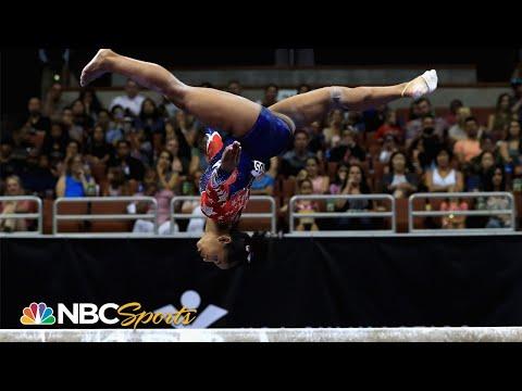Jordan Chiles' miraculous beam save at 2017 US Nationals | NBC Sports