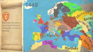 Map History of Europe (End of The Middle Age 1444-1453)