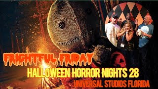 🔴LIVE. Frightful Friday. Halloween Horror Nights 28. Universal Orlando Resort.