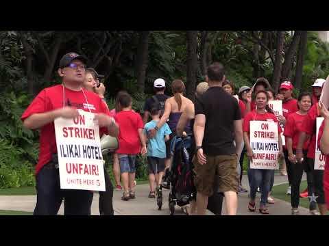 Ilikai Hotel workers go on strike
